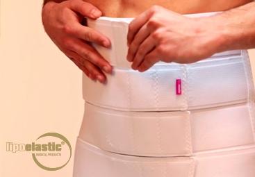 Korrektes Anlegen und Tragen des LIPOELASTIC® Bauchgurtes.